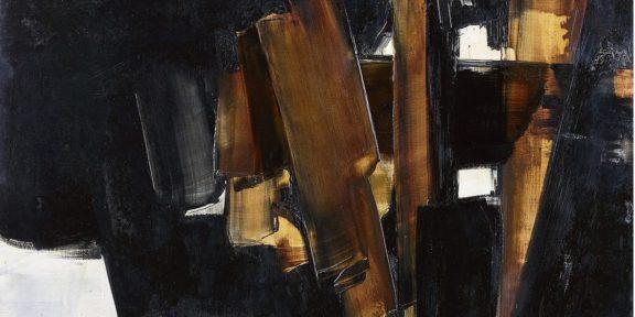 Pierre Soulages, Peinture, 200 x 162 cm, 14 mars 1960 (particolare)