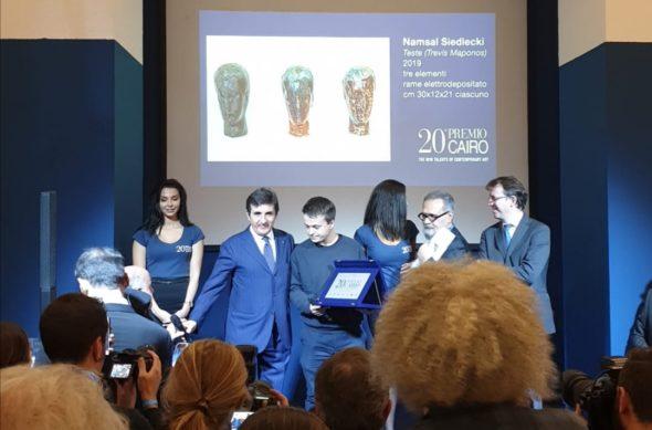 Premio Cairo 2019, vince Namsal Siedlecki con le sue Teste in rame. 25mila euro in palio all'artista