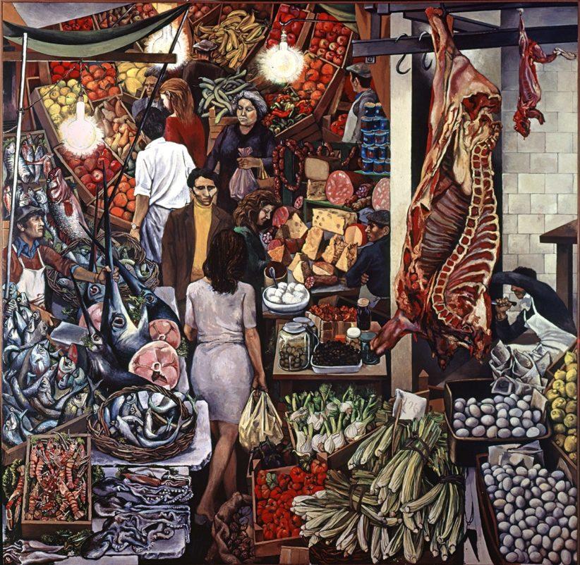Renato Guttuso, La Vucciria, 1974, olio su tela, cm 300 x 300