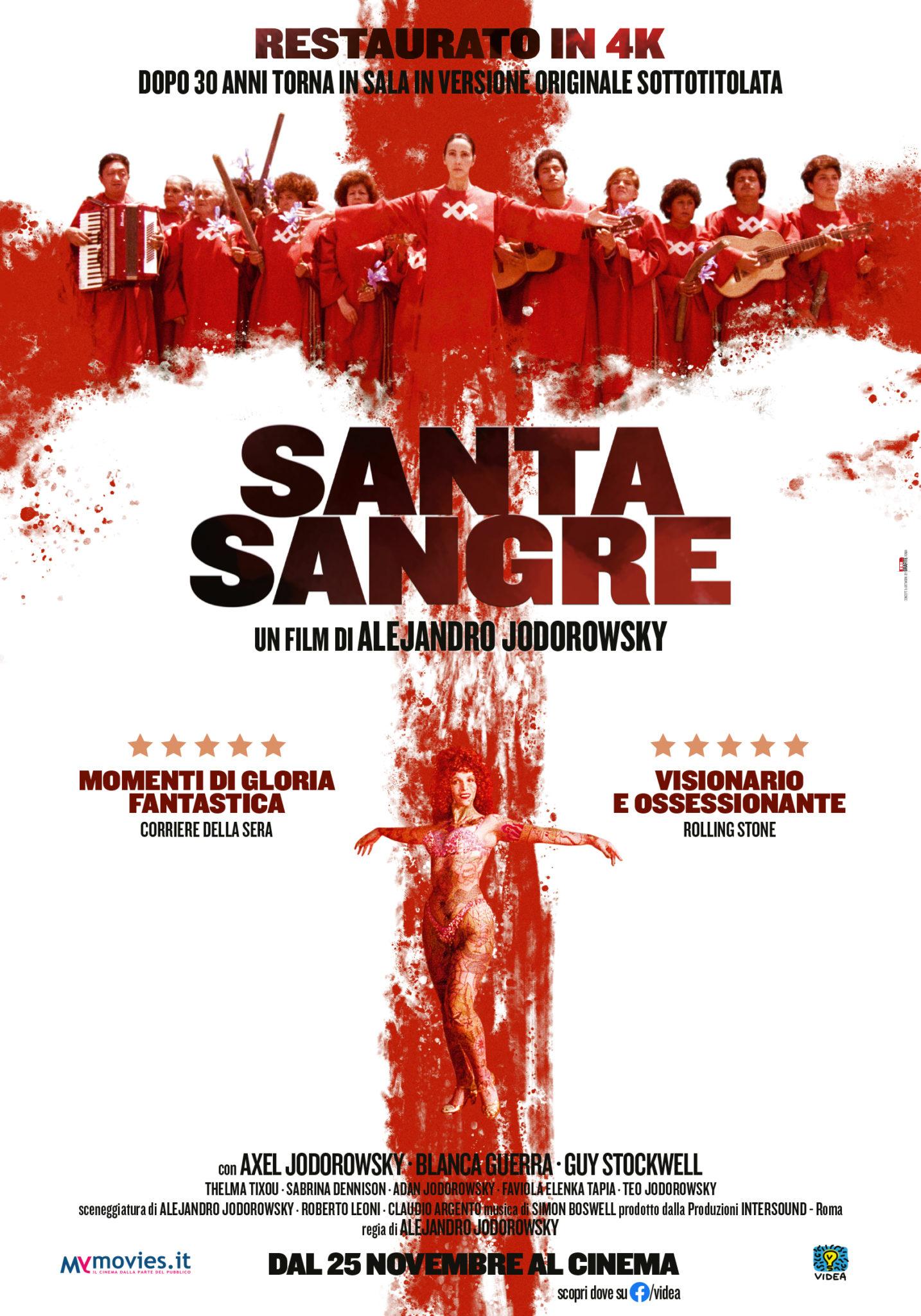 Santa Sangre, il capolavoro visionario di Alejandro Jodorowskytorna al cinema