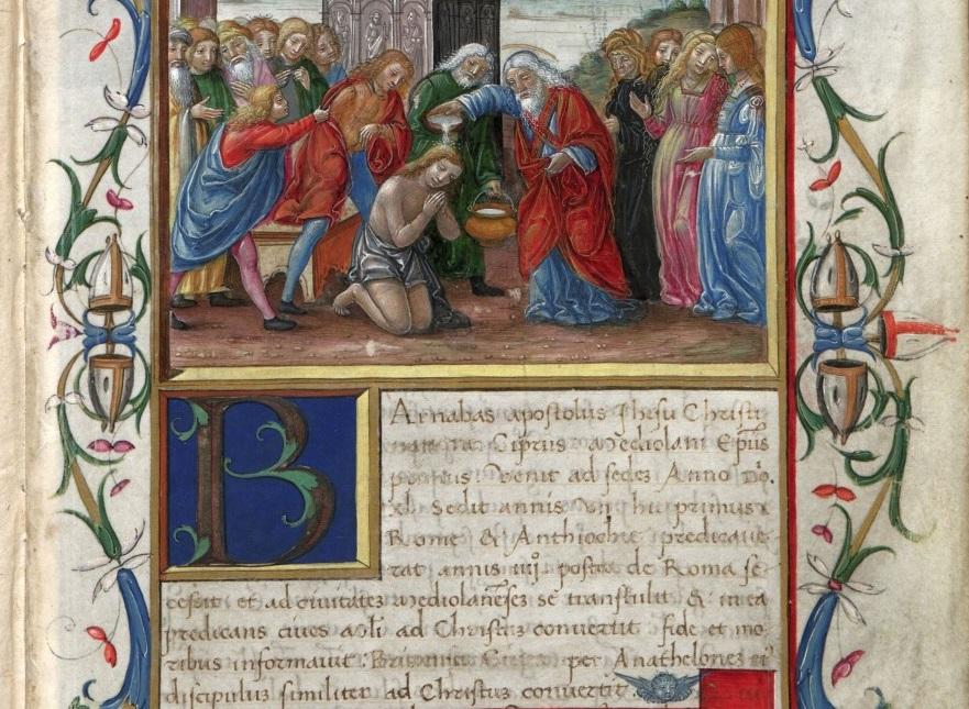 Manoscritto della Veneranda Biblioteca Ambrosiana