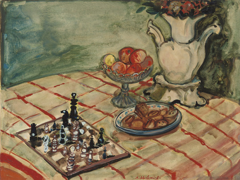 Abraham Mintchine, Still life with chess-board