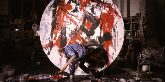 Emilio Vedova - Al lavoro ai Dischi - Venezia 1985 - Foto Paolo Mussat Sartor Torino - 1