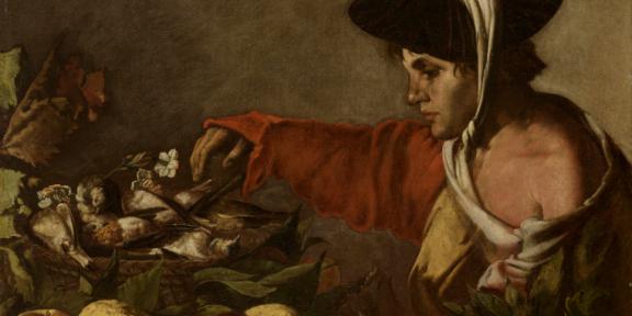 Hendrick ter Brugghen (attribuito), Ragazzo con frutta e cesta di cacciagione, 1620-1629, olio su tela. Credito fotografico Giuseppe e Luciano Malcangi Collezione Poletti
