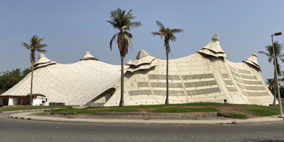 King Abdulaziz University Sports Hall, designed by Frei Otto