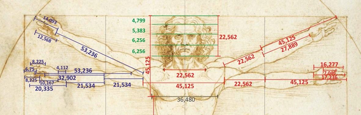 Misteriosi calcoli matematici nei capolavori rinascimentali. Il caso dell'Uomo Vitruviano di Leonardo