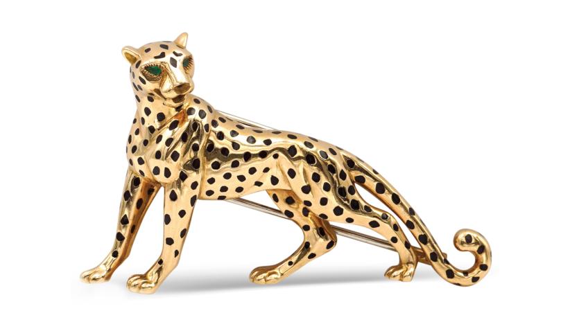 Lotto 70 - Cartier collezione Panthère ANNI 70/80. Spilla pantera in oro giallo 18kt. EUR 1.500,00 / 2.000,00