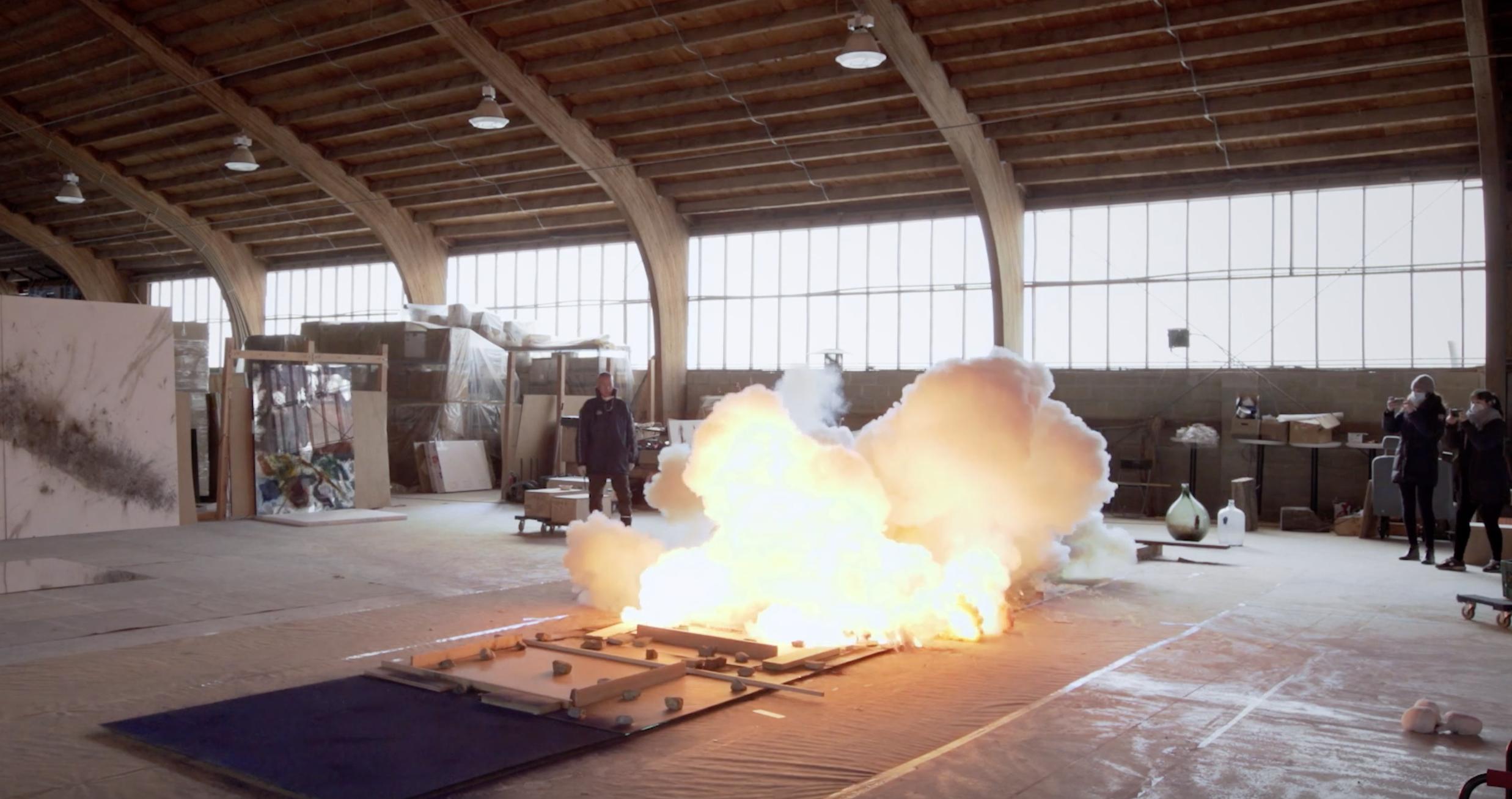 Guggenheim di New York. Cai Guo-Qiang dà fuoco a nuove opere ispirate alle icone dell'astrattismo