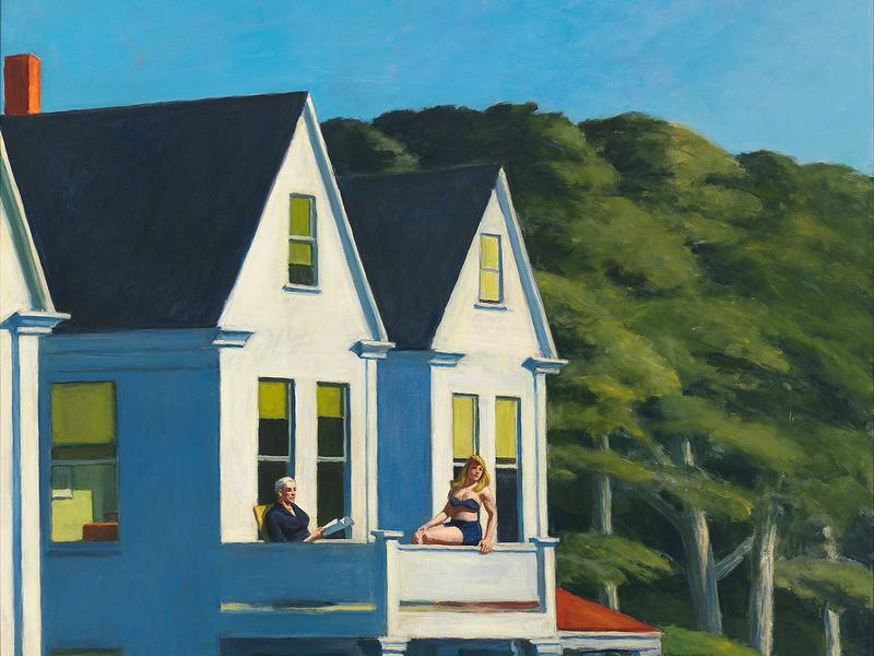 Edward Hopper, Second story sunlight, 1960 / Autore: Whitney Museum of American Art / Detentore del copyright: © © Heirs of Josephine Hopper / 2019, ProLitteris, Zürich - © 2019. Digital image Whitney Museum of American Art / Licensed by Scala