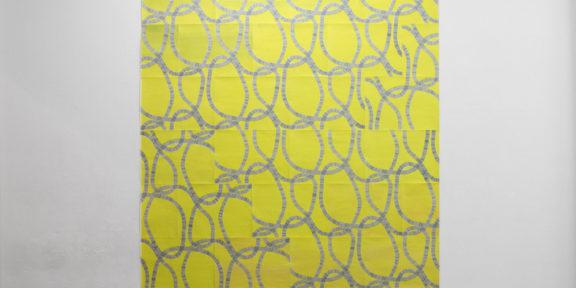 Tomoko Mori, Schmarotzer (2019). 24 sheets on paper, screenprint 252-232 cm