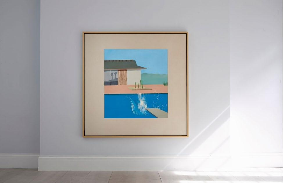 L'onda lunga di David Hockney. The Splash all'asta da Sotheby's, stima 20-30 milioni