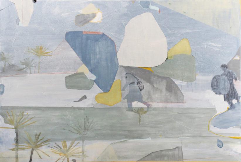 Federica Giulianini, Sachalin, 120x80 cm, tecnica mista su lino, 2018