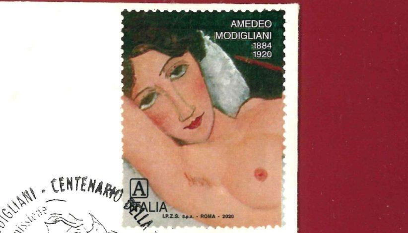 Il francobollo dedicato a Modigliani nel centenario della morte