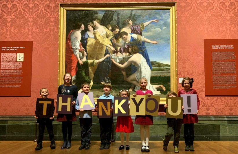 La National Gallery acquisisce Il ritrovamento di Mosè di Orazio Gentileschi