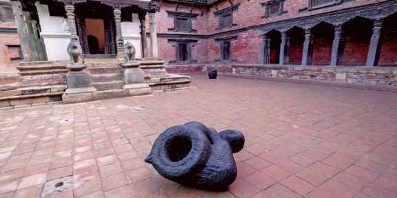 Namsal Siedlecki, Mvaḥ Chā, 2020, Patan Museum, Nepal, Courtesy Fondazione Pastificio Cerere, Roma and the artist, foto Nikesh Shrestha