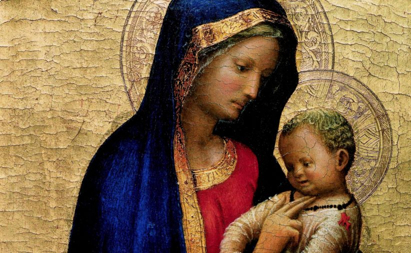 Particolare del capolavoro di Masaccio, la Madonna del Solletico