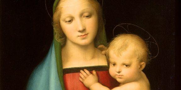 Particolare della Madonna del Granduca di Raffaello, degli Uffizi