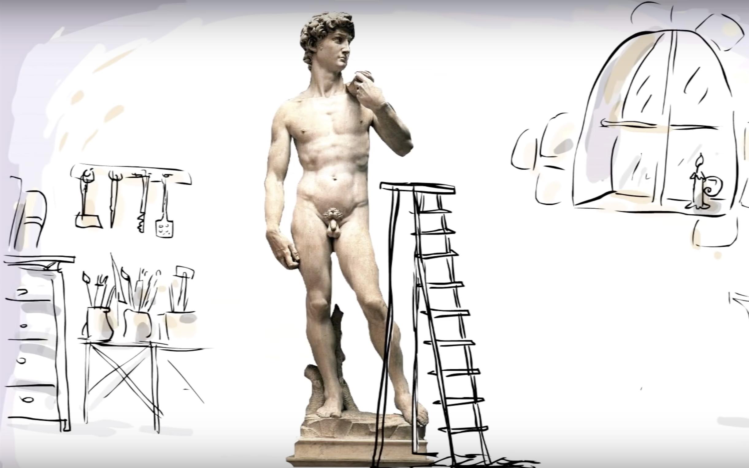 David. Un video animato racconta i diversi significati del capolavoro di Michelangelo