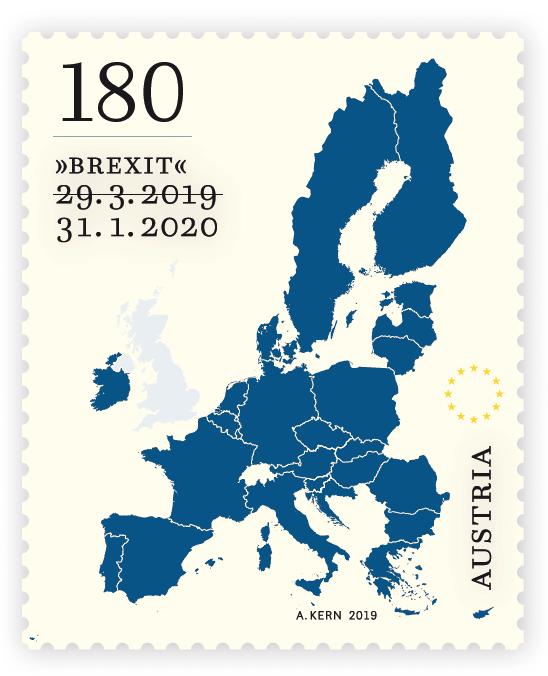 La Brexit ha anche il suo francobollo. A emetterlo è l'Austria