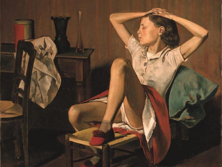 Balthus, Thérèse Dreaming (dettaglio)