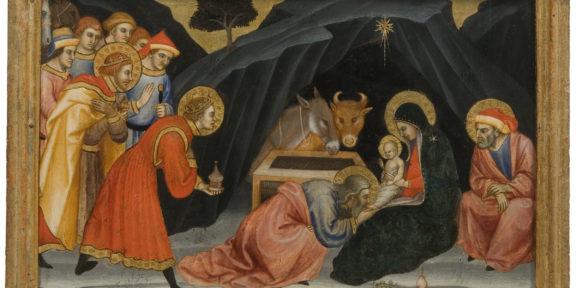 Taddeo di Bartolo, tavoletta Adorazione dei Magi, Pinacoteca Nazionale Siena, Polo Museale Toscana