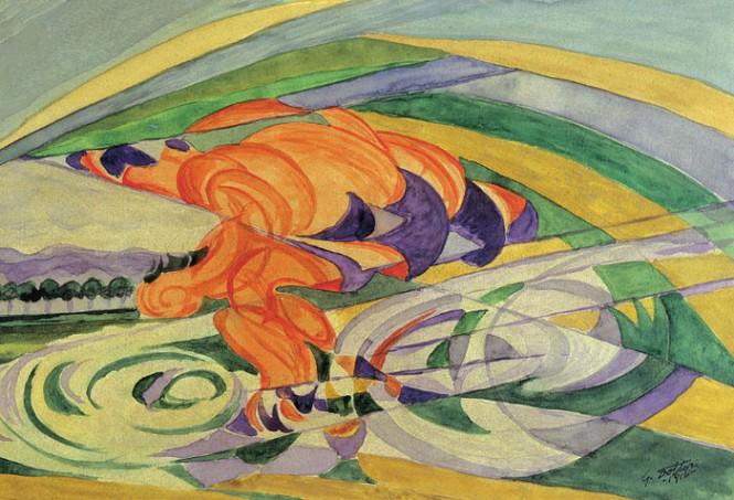 Dipinti su due ruote: i pennelli dei Futuristi prima delle corse di Coppi e Bartali