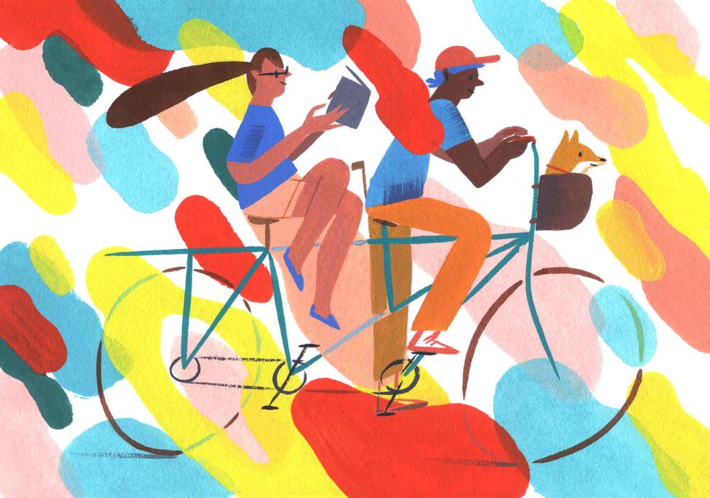 Il mondo a colori: visita allo studio dell'illustratrice Ping Zhu