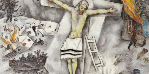 Marc Chagall, Crocifissione bianca (dettaglio)