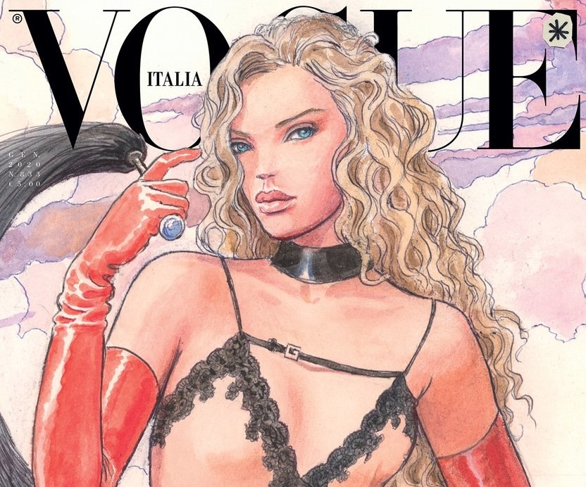 Raccontare gli abiti senza fotografarli. La prima di Vogue Italia senza foto. Le nuove cover illustrate da artisti per un numero sostenibile e creativo