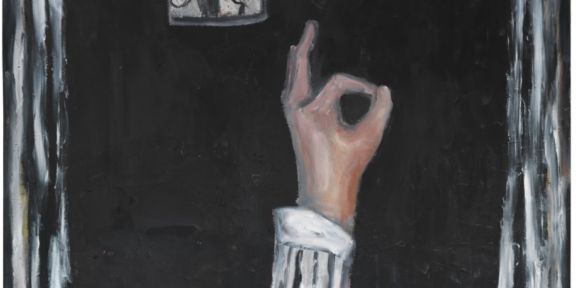 """OK"" ,oil and paper on canvas ,180x130 2019"