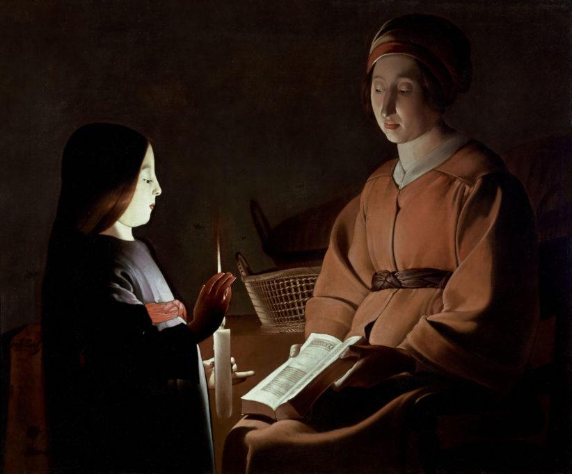 Georges de La Tour (studio) Educazione della Vergine, 1650 ca. Olio su tela, 83,8 x 100,3 cm The Frick Collection, New York, Stati Uniti