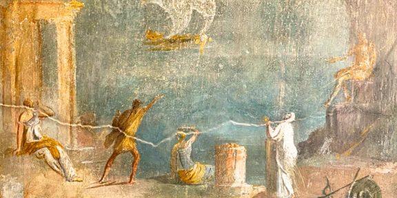 Affreschi delle nuove domus riaperte a Pompei