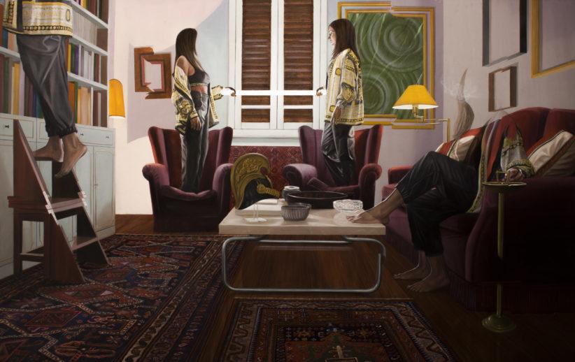 Dario Maglionico, Reificazione #63, oil on canvas, 120 x190 cm, 2020.