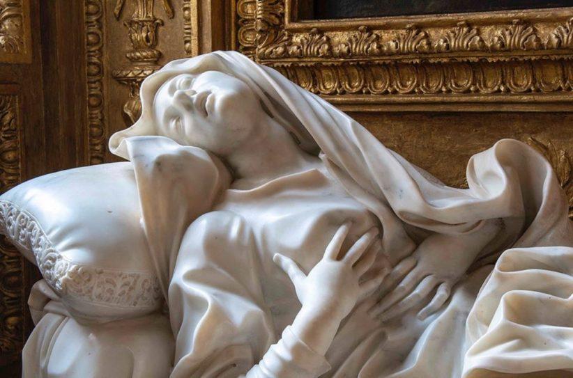 L'Estasi della Beata Albertoni. Immagine dalla Soprintendenza Speciale di Roma