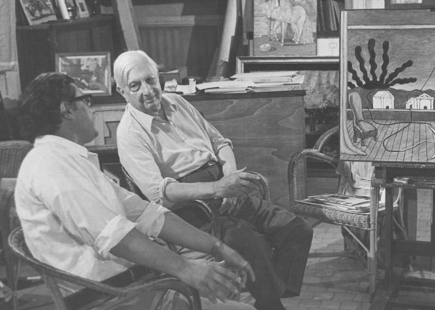 Il sole sul cavalletto. L'opera che de Chirico realizzò davanti alle telecamere della Rai nel 1973