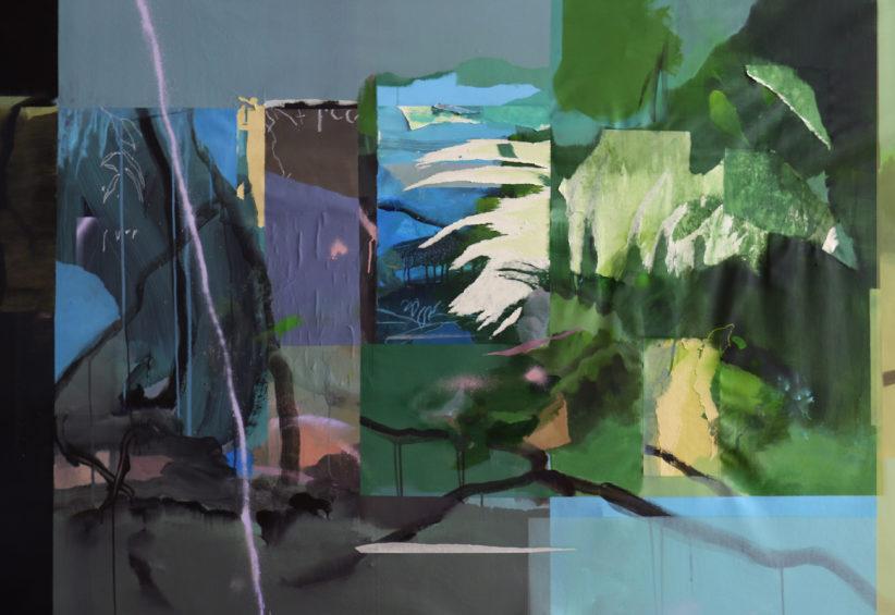 Land Flag 2019 110 x 166 cm mista su tela