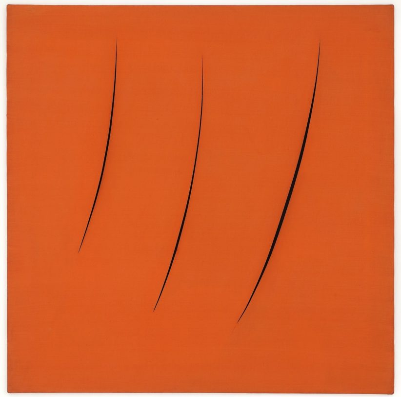 Lucio Fontana, 'Concetto Spaziale, Attese,' 1959, oil on canvas. Photo by Marco Anelli. Courtesy the Olnick Spanu Collection