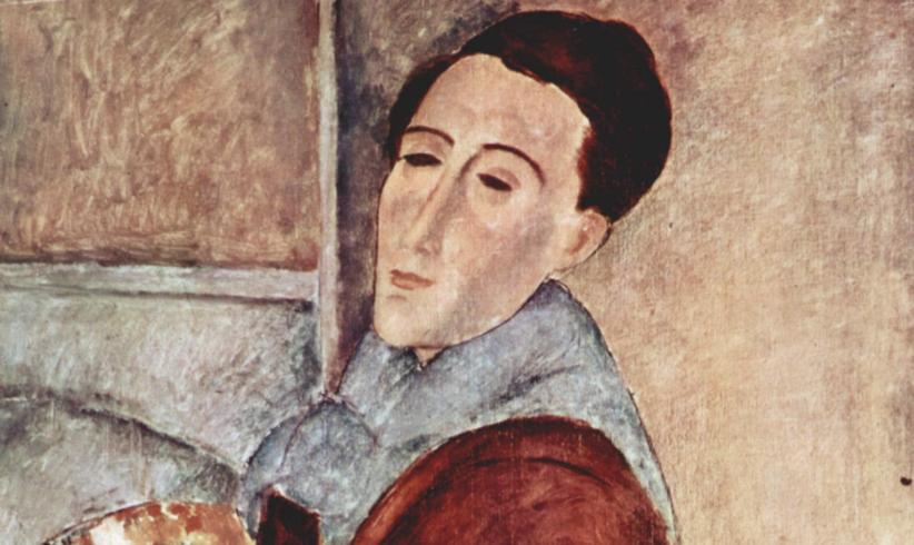 Particolare dell'Autoritratto di Amedeo Modigliani