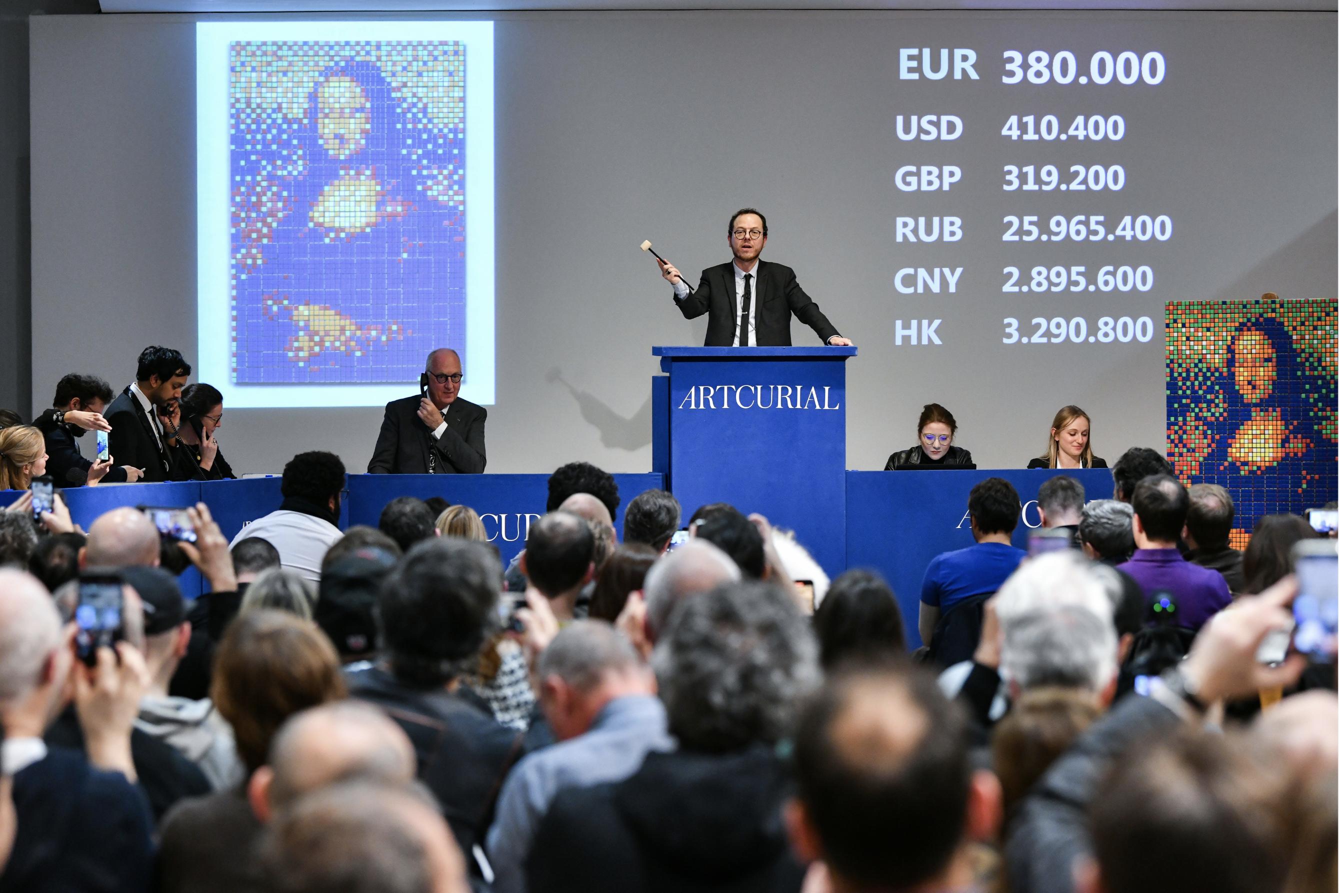 """""""Rubik Mona Lisa"""" di Invader venduta per 480 mila euro da Artcurial"""