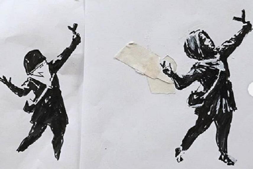 Banksy: che bello che il mio murale è stato vandalizzato!
