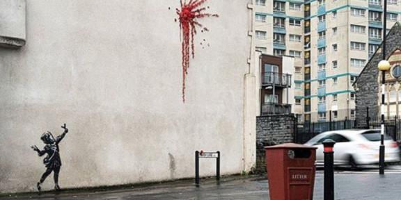 murale di banksy a san valentino