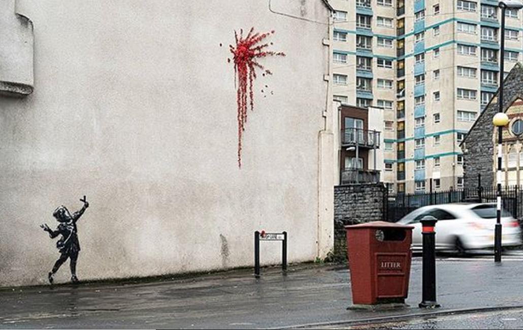 Banksy, nuovo murale. Con gli auguri di San Valentino alla sua Bristol…