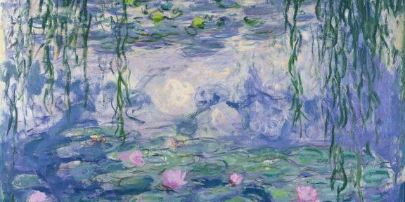 Claude Monet (1840-1926), Nymphéas, vers 1916-1919. Huile sur toile, 150x197 cm. Paris, musée Marmottan Monet, legs Michel Monet, 1966. © Musée Marmottan Monet, Paris / Bridgeman Images