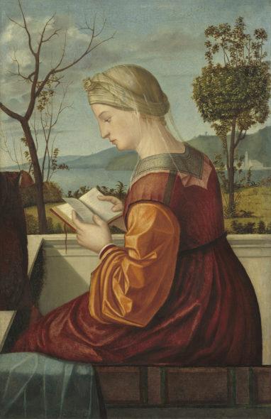 Vittore Carpaccio, Vergine leggente, 1505 c. Olio su tavola trasferito su tela, 78 x 51 cm National Gallery of Art, Washington, Samuel H. Kress Collection