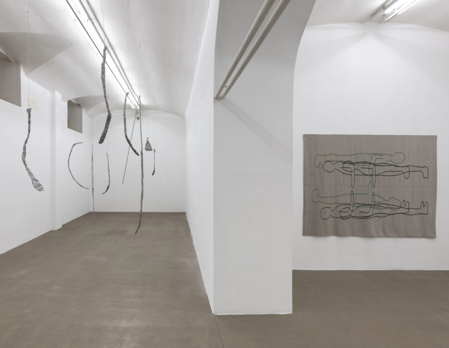 Esther Kläs, Maybe it can be different, 2020, installation view at Fondazione Giuliani - Courtesy Fondazione Giuliani Roma, ph. Giorgio Benni