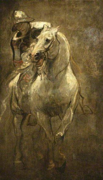 A Soldier on Horseback di Van Dyck