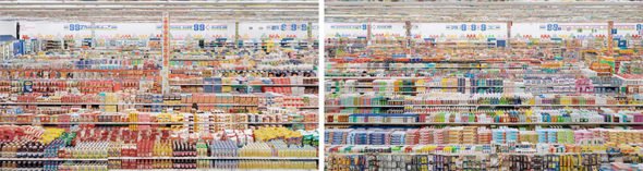 Andreas Gursky: 99 Cent II, Diptych