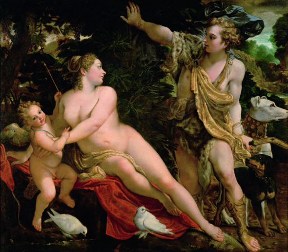 Annibale Carracci and studio Venus and Adonis,17 secolo,Kunsthistorisches Museum Vienna