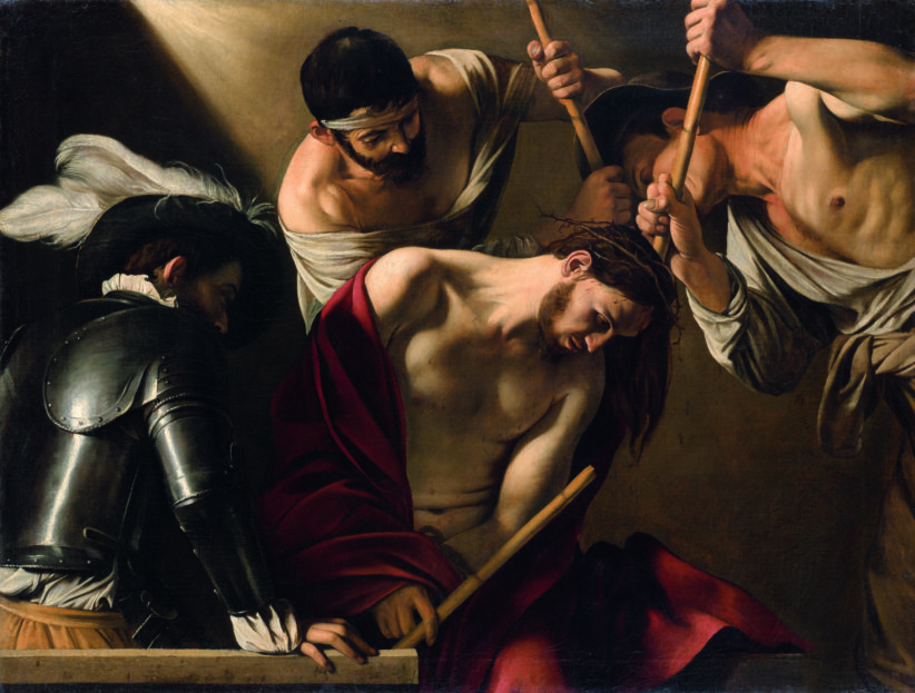 Caravaggio, The crowning with Thorns, Romec.1603 Vienna,Kunsthistorisches Museum