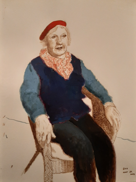 David Hockney, Celia Birtwell, 21 November 2019, tecnica mista, 2019